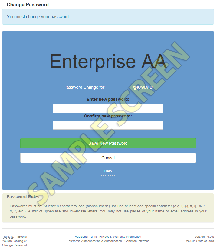 Enterprise A&A Service - Help